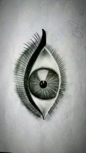 Look Into The Darkness  Look Into My Eyes My Drawing Black & White Winged Eyeliner Dark Art Darkness