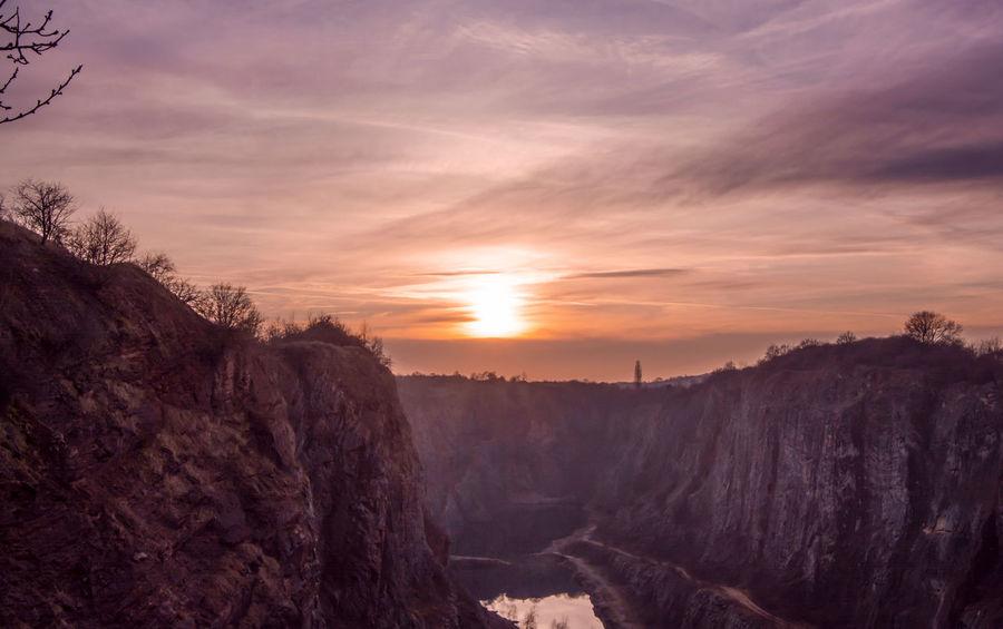 Photography Photo Landscape Land Sun Sunset Canyon Velkaamerika Czech Czechrepublic Sweet Sky RedSky Clouds Nice