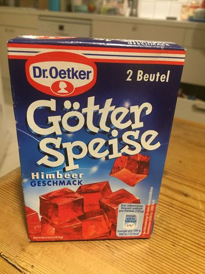 Berlin, Germany - January 31, 2018: Dr. Oetker raspberry Götter Speise (jelly). Dr. Oetker is a German company that produces baking powder, cake mixes, yogurt, frozen pizza, pudding, cake decoration Dessert Desserts Dr. Oetker Food And Drink Supermarket Close-up Delicious Dr Oetker Food Götterspeise Indoors  Jelly No People Price Tag Retail  Sweet Sweet Food Sweets Table Tasty Text Toppings Yummy