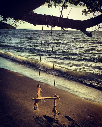Beach Swingtime Swing Sea s Sand & Sea Nature Water