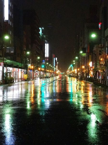Rainy Rainy Days Rain Street Nightcall Rainfall Colors Night Colors Tokyo