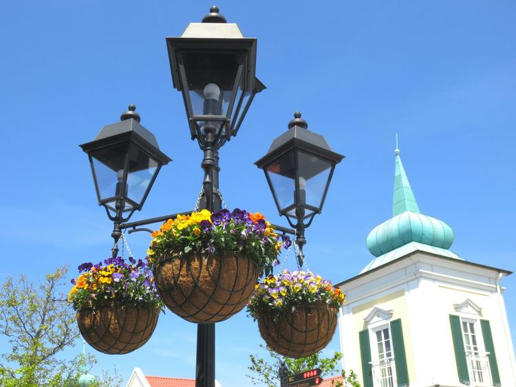 garden lamps Lamp Design Lamplight Streetlamp Lamp Post Lights Sky And City Blue Sky Outdoors Day