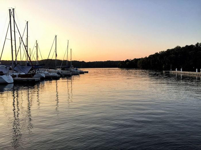 Marina Dusk Marina Boats Dusk Sunset Water Lake Waves Ripples Peaceful Serenity
