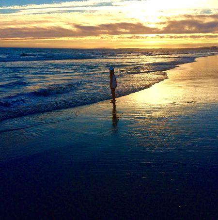 Sunset Light And Shadow Sea Sea And Sky Seascape Seaside Beach Sunset Silhouettes