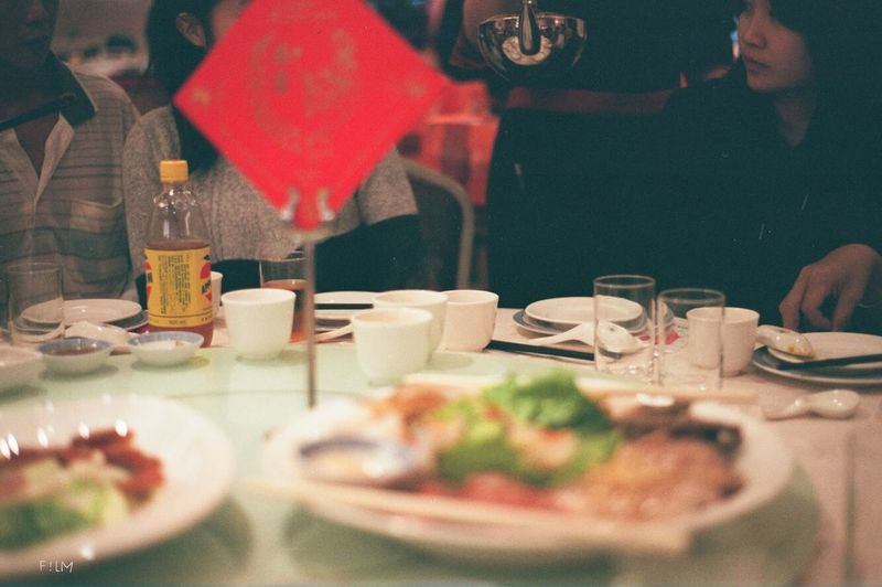 canon Eos55 Xtra400 Fujifilm Food And Drink Food Table Plate Business Restaurant Selective Focus