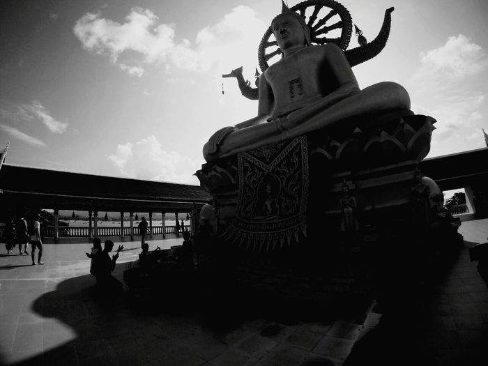 Big buddha, koh samui Cultures Religion Architecture Place Of Worship Travel Destinations Statue Outdoors Sky Cloud - Sky Travel History First Eyeem Photo