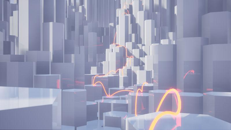 3D Badie Edge Notseig Red String Abstract Architecture Design Engine Minimal Mirrors Pierre Ue4 Unreal