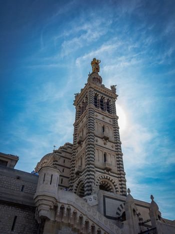 Marseille Notre Dame De La Garde Bonne Mere Church Eglise Spirituality Low Angle View Architecture Religion History