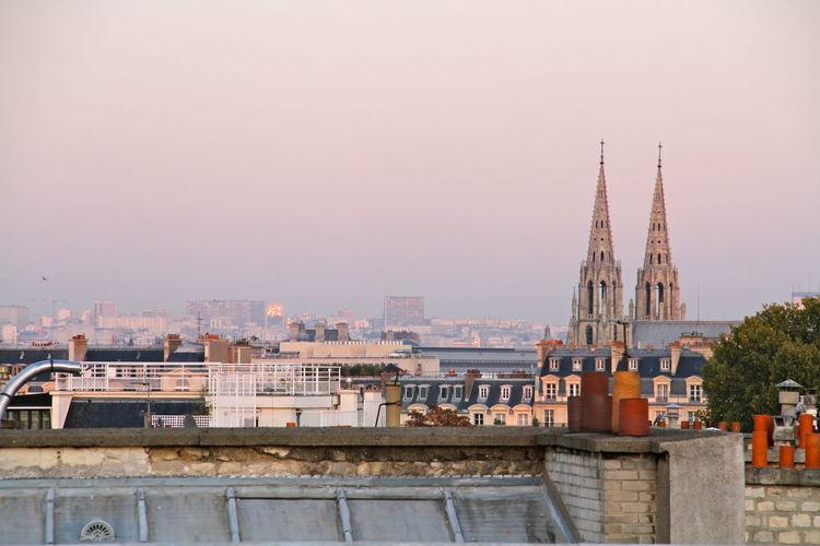 Basilica of saint clotilde against sky in city