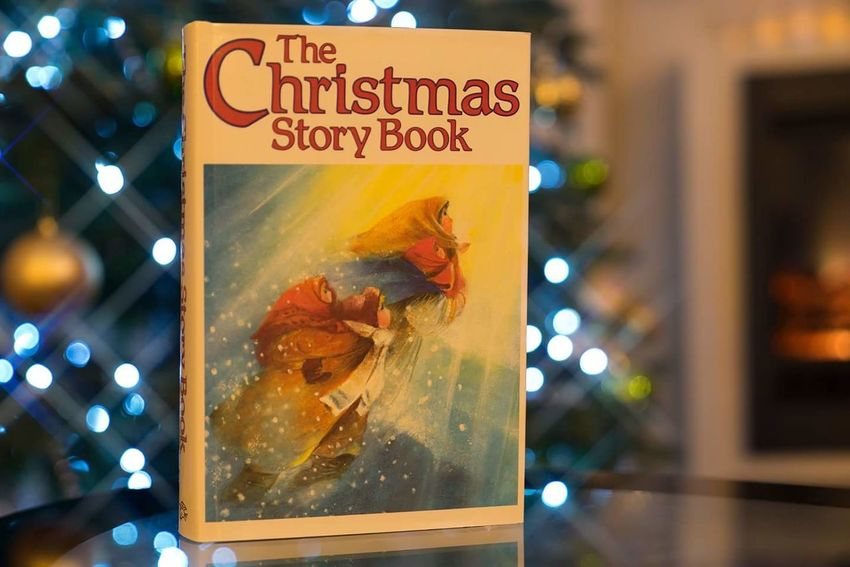 Stories Christmas Lights Christmas Tree Christmas Decoration Book Text Food No People Defocused Close-up Day Outdoors