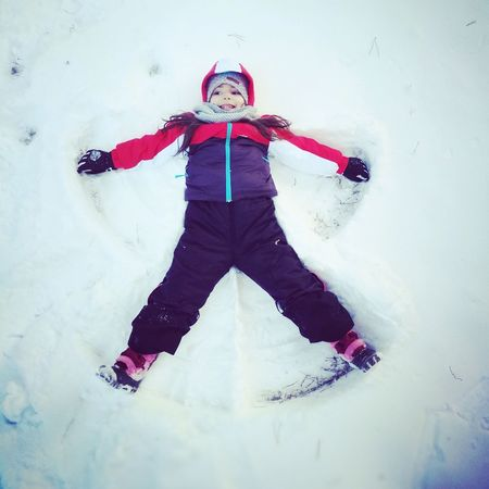 Winter Outdoors Day One Person Snowangel Beautiful Nature Beautiful Child Little Girl Leicacamera HuaweiP9