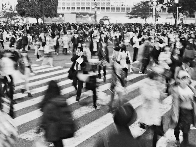 City Life Crowd Blurred Motion Streetphotography People Blackandwhite Tokyo Japan Shibuya Crossing