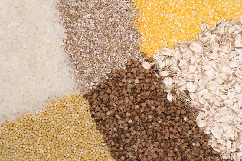 Grains of rice, oat, corn, buckwheat, wheats, barley corn Close Up Wholegrain Raw Food Nutritional Supplement Harvesting Barley Buckwheat White Rice Porridge Dieting Grits Oats - Food Oatmeal Corn Vitamin Rice - Cereal Plant Vegetarian Food Abundance Full Frame Backgrounds No People Large Group Of Objects Food And Drink Wellbeing Choice Variation Healthy Eating Cereal Plant Seed Nature