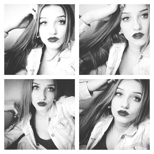 Me Collage Blackandwhite Girl Makeup Cute Love Woman Selfie Bored