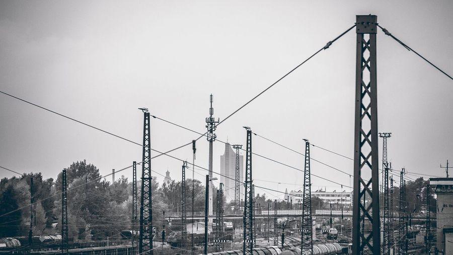 Leipzig Engelsdorf Bahnhof Power Line  Cable Connection Electricity  Leipzig Leipzigartig Leipzigtravel Leipzigram Leipzigcity Outdoors Blackandwhite Engelsdorf Bahnhof Mainstation Urban Black And White Friday