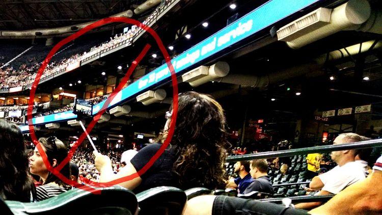 No selfie-sticks in baseball!