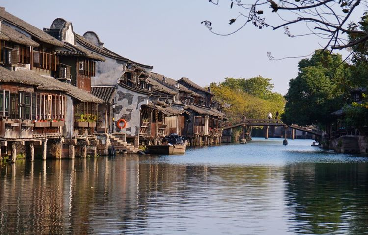 Watertown Water Watertown Travel Destinations No People Traveling Oriental Style Reflection Outdoors Tree 江南 水乡 Village Life Jiangnan Chinese Town Cultures