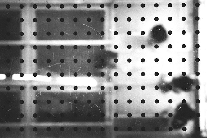 Geometry - Everything is Math | Black Dots Geometric Shapes Rectangles People Through The Glass Glass Floor Black And White Photography Black And White Black & White Abstract Balanced Elements Monochrome Photography
