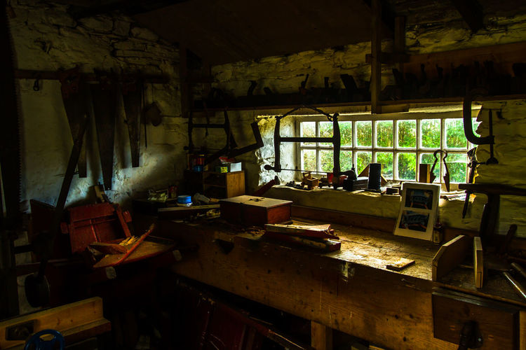 Cregneash Wood Day Indoors  Isle Of Man No People Tools Woodworking Workshop Still Life Art Love Yourself