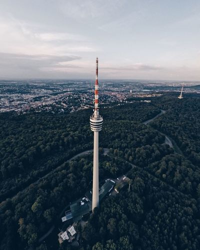 Hi Stuttgart Hi TV Tower Architecture Built Structure Tower Travel Destinations Aerial View Cityscape High Angle View Mountain No People City Building Exterior Sky Tourism Travel Day Outdoors Scenics Nature Sea Landscape Tvtower Stuttgart Drone  Germany