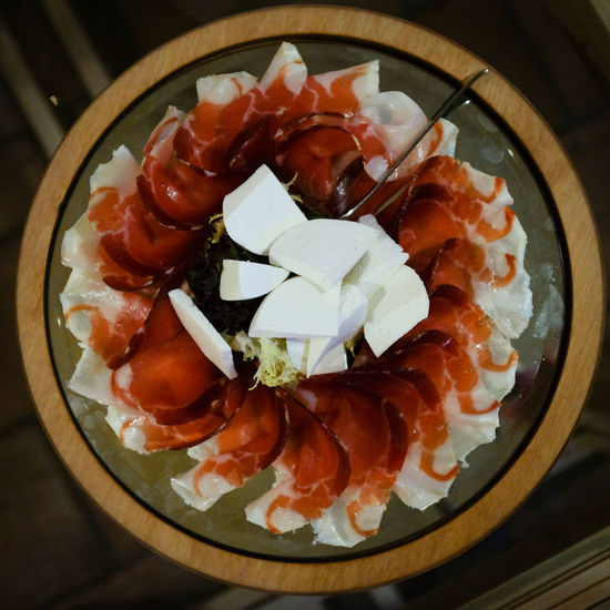 Close-up Day Food Food And Drink Freshness Healthy Eating High Angle View Indoors  Japanese Food No People Plate Ready-to-eat Salmon Sashimi  Seafood Serving Size Still Life Table