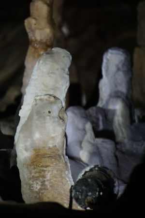 Stalactite  Beauty In Nature Cave Close-up Day Geological Geological Formation Geology Human Representation Indoors  Indoors  Male Likeness Nature No People Rock - Object Sculpture Stalacmite Stalagnate Statue