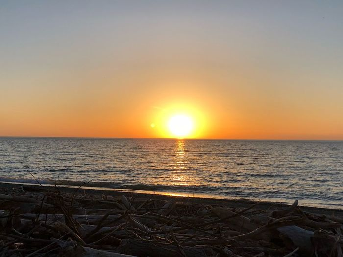 Just let it go Sunset Sky Water Sea Scenics - Nature Horizon Over Water Beauty In Nature Horizon Sun Orange Color Tranquil Scene Tranquility Idyllic Nature No People Non-urban Scene Sunlight Land Beach Outdoors