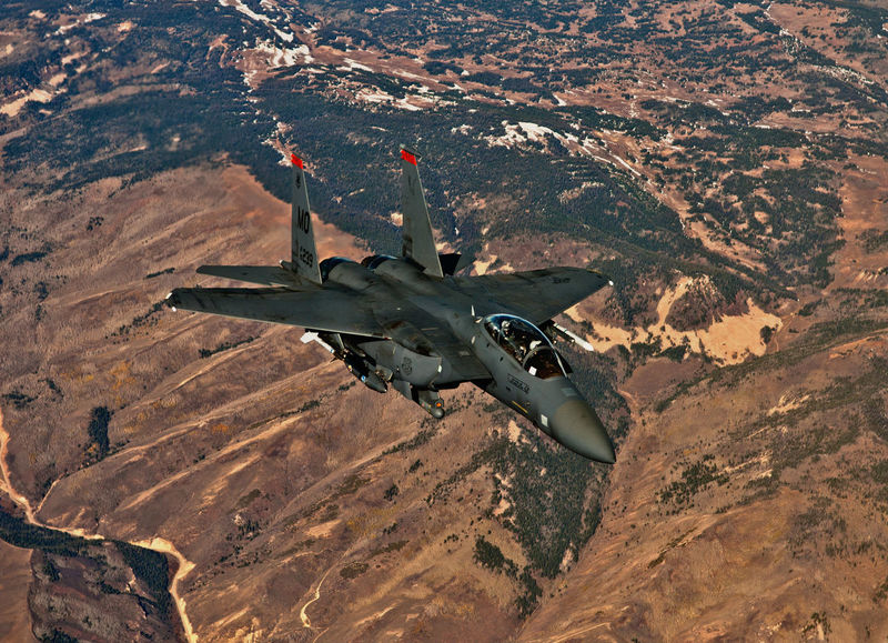Air Force F-15 Fly Airplane Fighter Plane Flying Military Military Airplane
