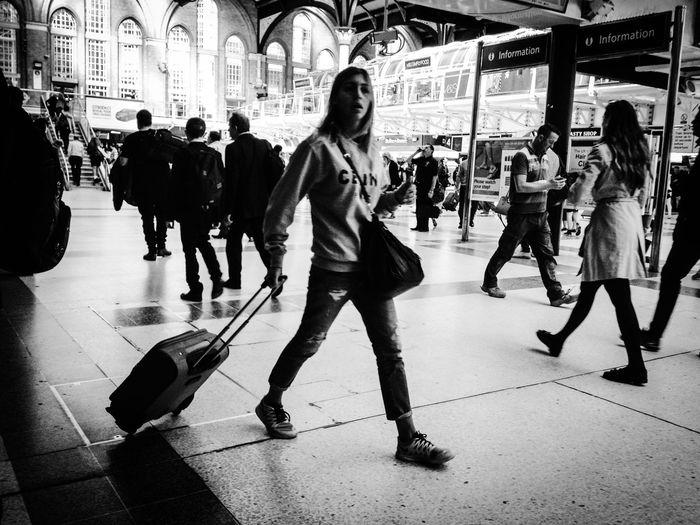 Blackandwhite Traveling London LONDON❤ Train Stations People The Human Condition London Lifestyle