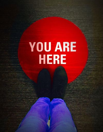 You Are Here Feet Feet On The Ground Sign Obvious You Are Here Sign