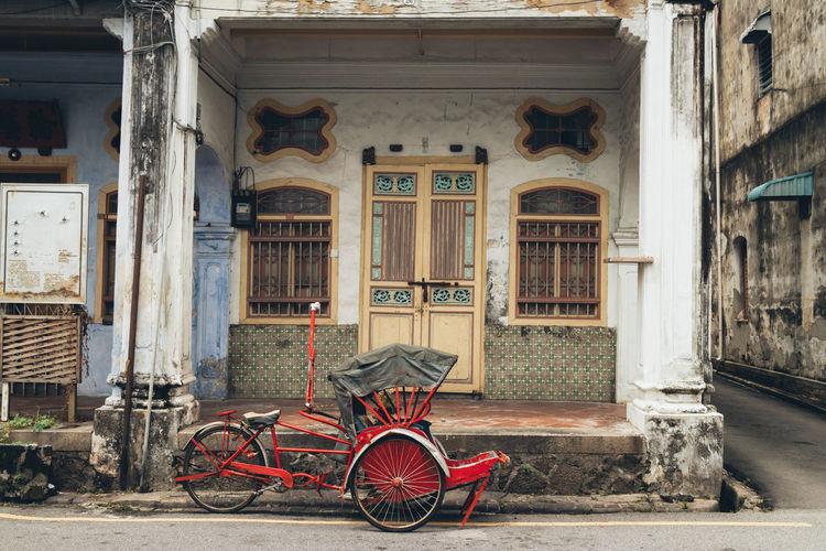 Richshaw in penang. george town penang, malaysia.