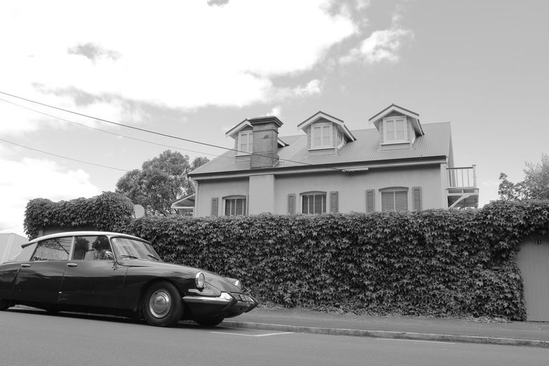Architecture Auckland Auckland City Black & White Black And White Blackandwhite Car City House Land Vehicle New Zealand No People Oldtimer Sky EyeEmNewHere