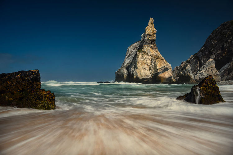 Rock Formations At Seaside