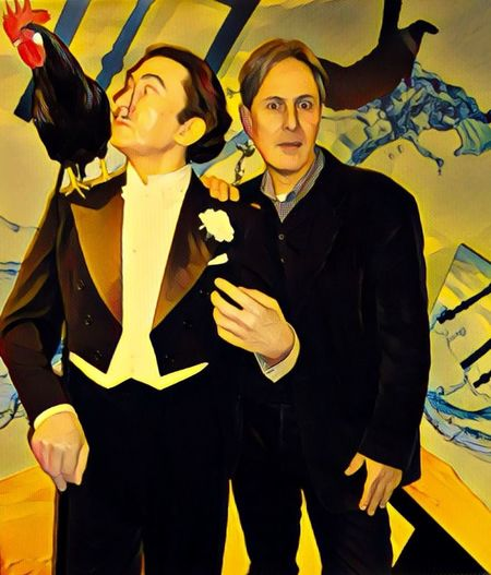 Salvador Dali Yellow Friendship Looking At Camera Friends Dali Person Mid Adult Real People Fashion Standing Suit Two People Portrait Night Young Adult Men Adult Well-dressed People Indoors  Togetherness Vertical iPhone Photografy Me & Dalí