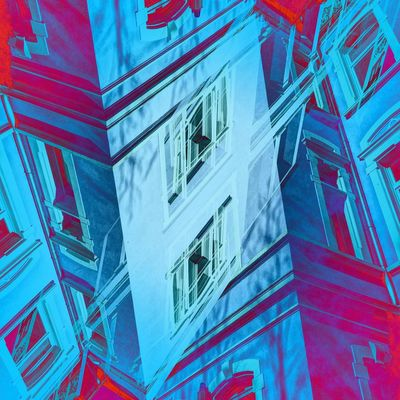 double exposure Abstract Art Double Exposure Full Frame Blue Backgrounds Architecture No People Built Structure Close-up Building Exterior