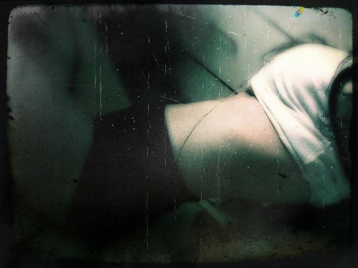 Scary Boo! Sexy Girl Hottie Victim Boobies! Waist Flat Stomach Green Danger