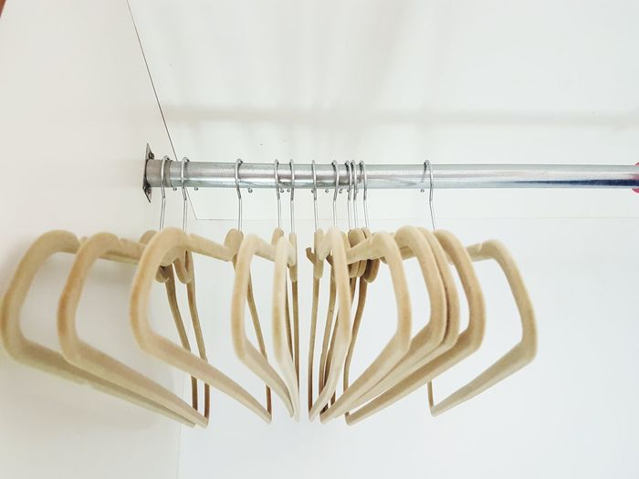 EyeEm Selects Hanging Coathanger No People Indoors  Close-up Day Clothes Hanger Wardrobe Closet Clothes Empty Closet Empty Wardrobe Hanger Minimalism