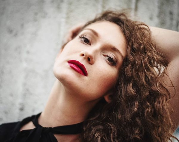 Headshot Beautiful Woman Beauty Portrait One Person Young Adult Young Women Make-up Lipstick Hair Hairstyle Real People Lifestyles Women Long Hair Leisure Activity Adult Red Lipstick Body Part Contemplation