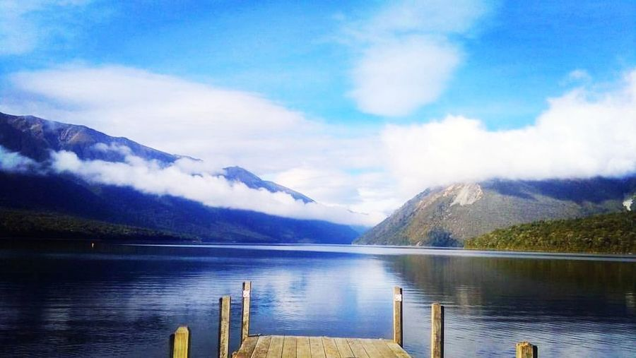 Nelson Lakes National Park NZ South Island Bring Me Back Water Mountain Lake Tree Snow Blue Wilderness Area Reflection Winter Glacier Snowcapped Mountain