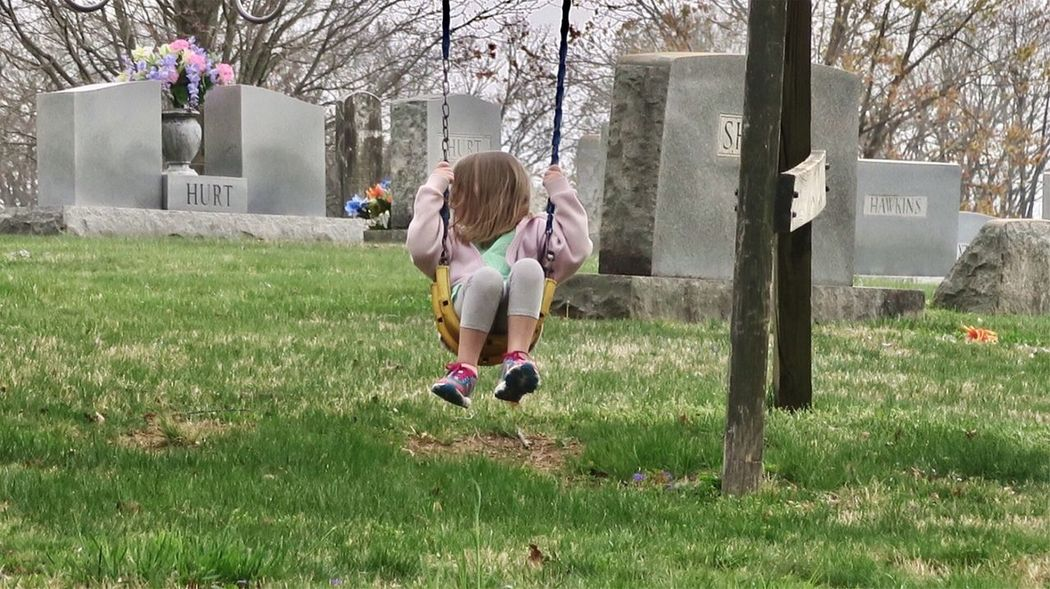 A quiet place to swing… Grass Child Leisure Activity Full Length Flower One Person Tree Day Outdoors Lifestyles Nature Blond Hair People Real People Childhood Lone Child Little Girl Swing Cemetery Graveyard EyeEmNewHere