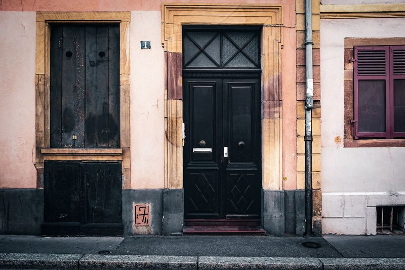 Urban Perspectives Street Photography The Devil's In The Detail Building Exterior Built Structure Entrance Architecture Door Building Closed Day No People City Outdoors Residential District Window House Old Doorway Front Door Wood - Material Street Security The Architect - 2019 EyeEm Awards The Street Photographer - 2019 EyeEm Awards My Best Photo