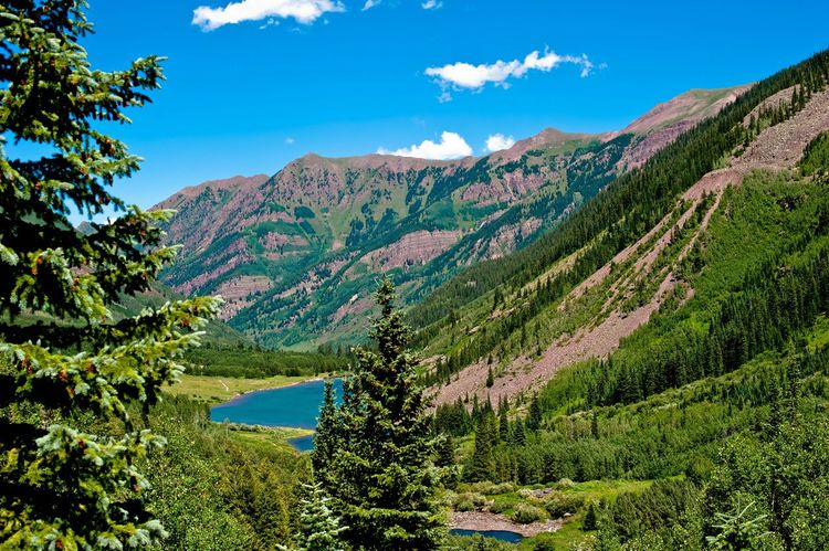 Been There. Colorado Beauty In Nature Blue Cloud - Sky Day Green Color Landscape Mountain Mountain Range Nature No People Outdoors Plant Scenics Sky Sunlight Tranquil Scene Travel Destinations Tree Wilderness
