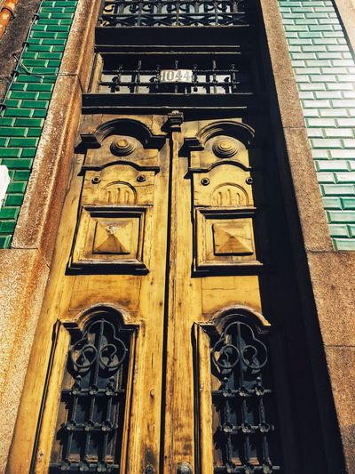 Doors of Porto Portugal Historic City Historic Doors Amazing Doors Porto Portugal 🇵🇹 Doors From The Past Doors Architecture Building Exterior Built Structure Entrance No People Door Day Closed Building Design Low Angle View Wood - Material Ornate Pattern