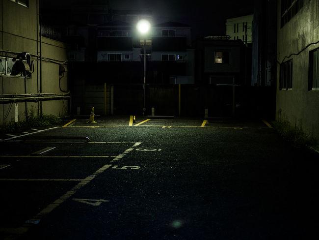 Alone Asphalt City Life Dark Darkness Empty Japan Lonely Night Parking Road Street Streetphotography Tokyo Urban