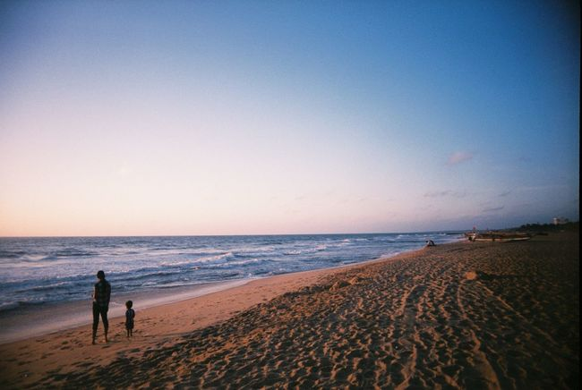 Lost In The Landscape EyeEm Selects Sea Beach Horizon Over Water Sand Shore Full Length Scenics Water Nature Tranquil Scene Beauty In Nature Sky Vacations Sunset Real People Tranquility Standing Outdoors Clear Sky Leisure Activity Sri Lanka Travel Film
