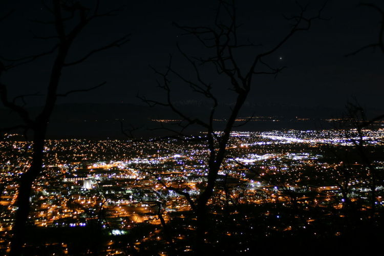 Valley of Stars Night City Tree Cityscape Nature Outdoors High Angle View Aerial View I-15 Utah Lake