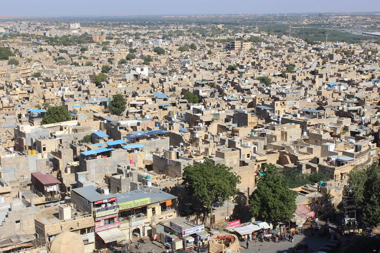 jaisalmer city at rajasthan in india Jaisalmer cityscapes View From The Top Daylight Architecture Cityscape City