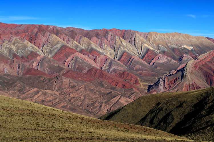 Landscape Hornocal Jujuy Alone Time Colours Coya Inca Latin America Tourist Attraction  Tranquility Argentina Beauty In Nature Best Place Cerro Colours Of Nature Destination Hornocal Jujuy Landscape Mount Mountain Mountains No People Paisaje Purmamarca Touristdestination Tranquil Scene Travel Destinations