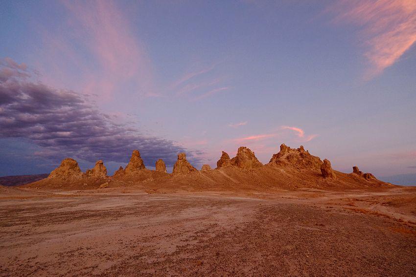 Trona Pinnacles, twilight. MajoveDesert Desert Twilight Trona Pinnacles