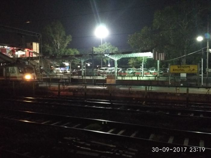 Rail Transportation Night Railroad Station Railway Signal Train - Vehicle Outdoors Sky